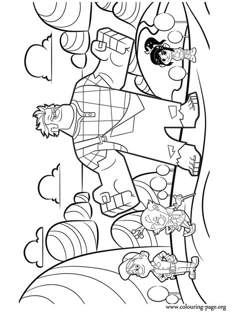 Have Fun With This Amazing Coloring Page From Wreck It Ralph In This Awesome Picture Are The Characters Fix It Felix Jr Ki Disney Andlighet Stampla