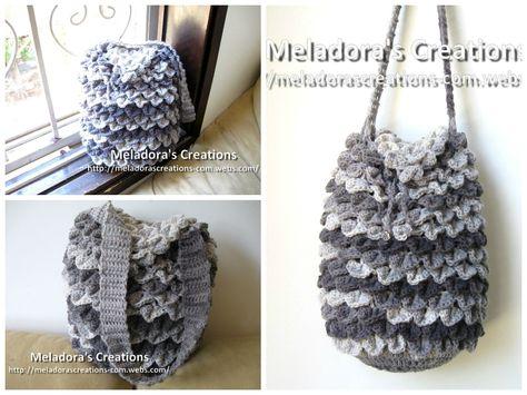 Crocodile Stitch Draw Bag – Free Crochet Pattern from Meladora's Creations