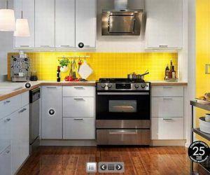 Black White Yellow Kitchen Design Google Search Yellow Kitchen