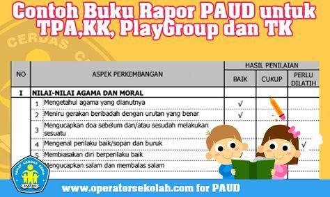 Contoh Buku Rapor Paud Untuk Tpakk Playgroup Dan Tk School Photos Playgroup Education
