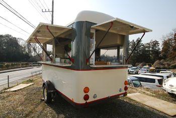 セミロングワイド 慣性ブレーキ付き 背面オープン 移動販売車 移動販売 ケータリングカー