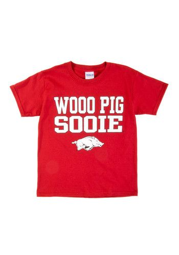 Arkansas Razorbacks Youth Cardinal Slogan Short Sleeve T