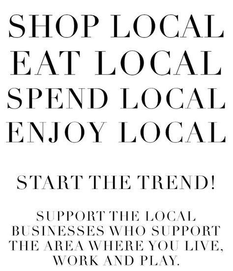 Sun is shinning in Melbourne today, get out and support your local traders #shoplocal #smallbusiness #communityfirst #carltonnorth…