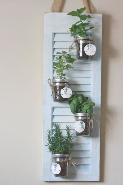 Great idea for an inside herb garden!