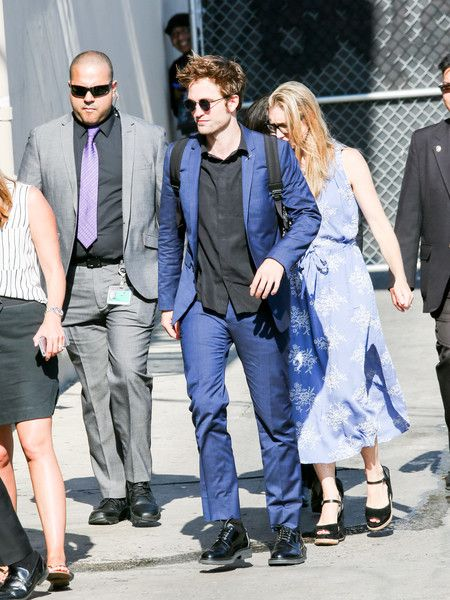 Robert Pattinson is seen at 'Jimmy Kimmel Live' in Los Angeles, California.