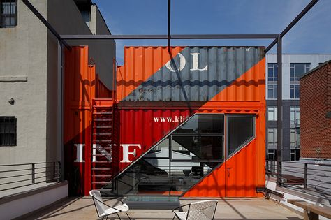 LOT-EK builds a penthouse made from shipping containers