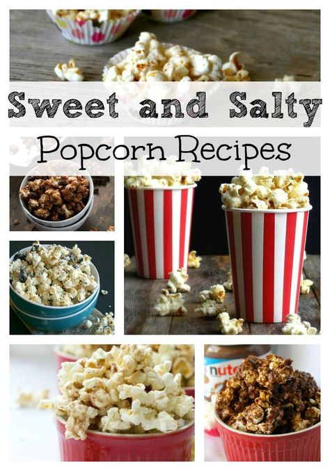 48 Sweet  Salty Popcorn Recipes. All kinds of popcorn for the perfect sleepover party! #recipe #popcorn