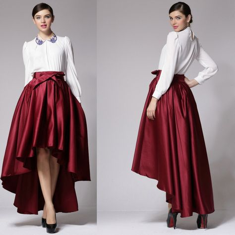 d90c4b5d96 Find More Skirts Information about BIG BRAND QUALITY 2014 new women ball  gown skirt deisgual high waist bowknot ankle length skirt short front long  back ...
