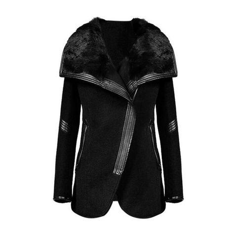 Fllay Womens Fashion Open Front Chiffon Asymmetric Hem Trench Coat Jackets