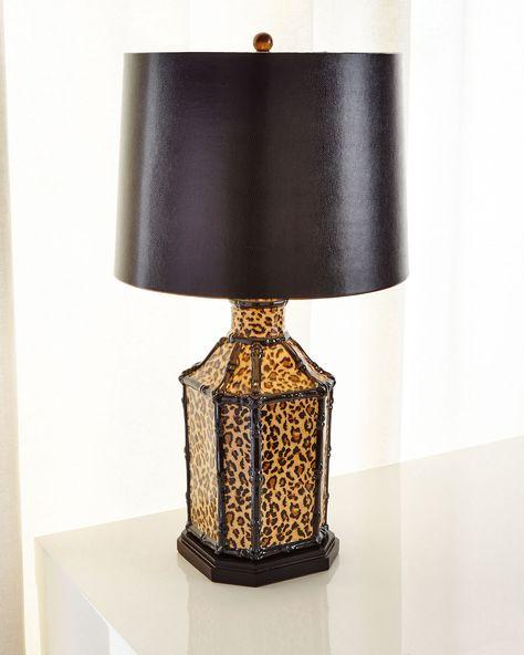 Port 68 Amelia Leopard Lamp | Table lamp, Animal print decor