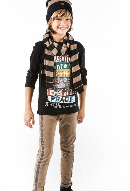 Knit t-Shirt for boy. Buy kids fashion designer clothes for babies and children in the boboli online store.