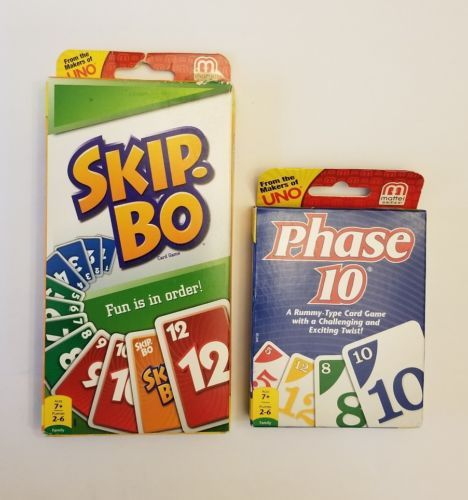Other Card Games And Poker 2552 Skip Bo Card Game And Phase 10