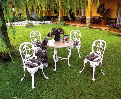 Muebles de exterior LLORET-PRINCESA. Decoracion Beltran, tu tienda online en mobiliario de fundición de aluminio para terraza y jardin. www.decoracionbeltran.com