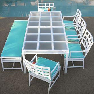 Crate and Barrel Atrium dining set