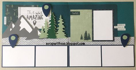 Scrapbook Sketches, Scrapbook Page Layouts, Scrapbook Pages, Scrapbooking Ideas, Boy Scout Badges, Eagle Project, Summer Family Photos, Kiwi Lane Designs, Creative Memories