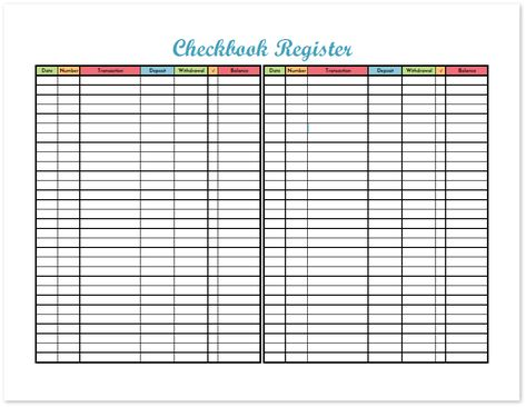 Check Registers The Good Wife New Budget Worksheet Checkbook - free checkbook register