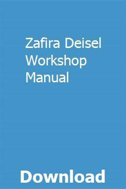 Zafira Deisel Workshop Manual Fiat Panda Fiat Manual Car
