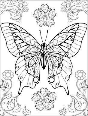 Coloriage Le Monde Des Papillons Coloring Sheets In 2021 Butterfly Coloring Page Coloring Pages Colorful Butterflies