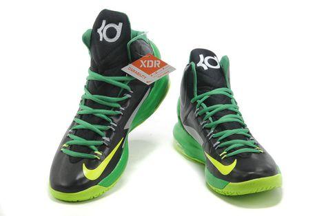 wholesale dealer 44431 a69b0 Nike KD V Black Electric Green Pine Green Strata Grey 554988 004