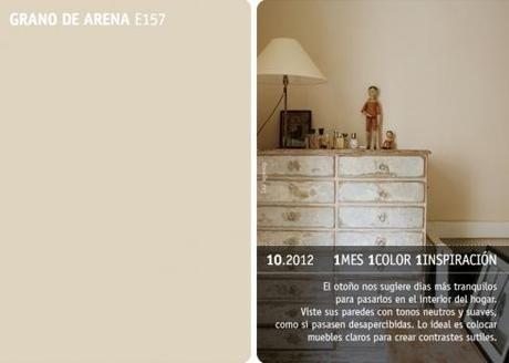 En Octubre Color Grano De Arena Paperblog Colores Para Paredes Interiores Colores De Decoracion Para El Hogar Pintura Color Arena