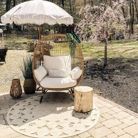 Southport Patio Egg Chair Opalhouse Round Outdoor Rug Outdoor Rugs Patio Outdoor Rugs