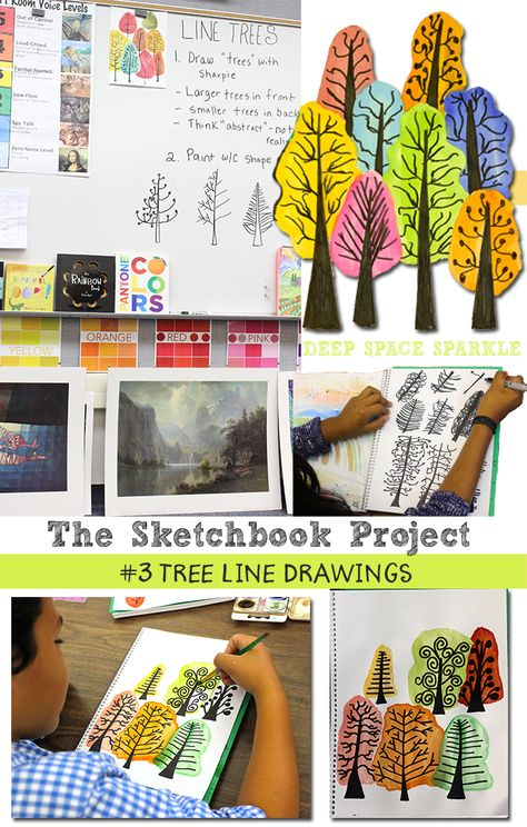The Sketchbook Project by Deep Space Sparkle: Drawing Modern Trees