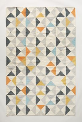 Would Be Pretty To Knit A Blanket With Pattern Like This Anthropologie Perfect Symmetry Rug