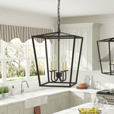 Carmen 6 Light Lantern Geometric Chandelier Geometric Chandelier Foyer Pendant Foyer Decorating