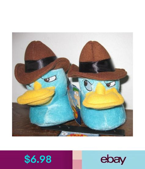 Disney/'s Phineas /& Ferb Agent P Perry the Platypus Kids 3-D Plush Slippers