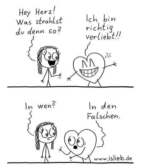 Richtig verliebt #comicsandcartoons #herz #liebe #verliebt #liebeskummer #islieb