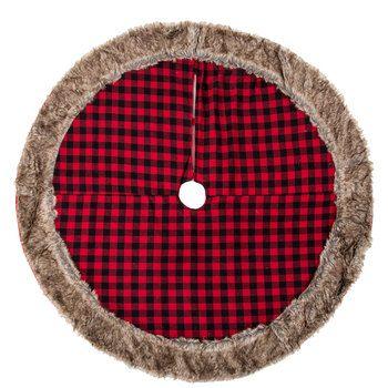 Red Black Buffalo Check Tree Skirt Buffalo Check Christmas
