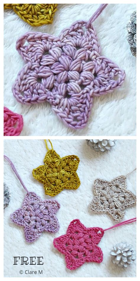 Christmas Star Ornament Free Crochet Patterns - DIY Magazine Christmas Star Ornament Free Crochet Patterns - DIY Magazine Always aspired to be able to knit, however uncertain the pl. Crochet Star Patterns, Christmas Crochet Patterns, Holiday Crochet, Crochet Snowflakes, Granny Square Crochet Pattern, Crochet Motif, Crochet Designs, Free Crochet, Angel Crochet Pattern Free
