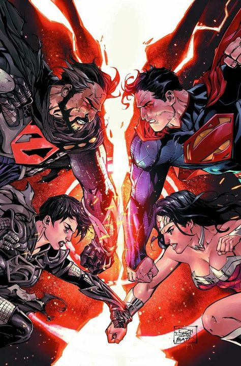 preview art for upcoming comic #6 superman / wonder woman