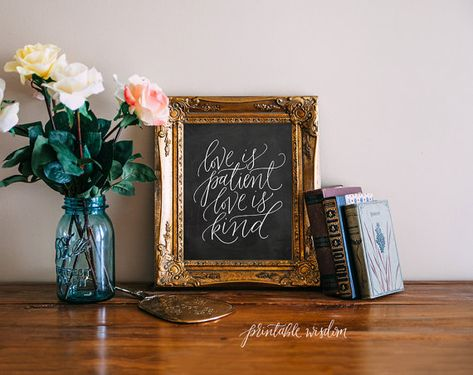 picture about Printable Wisdom identify Delight in is Individual, Printable Knowledge chalkboard Bible Verse Artwork