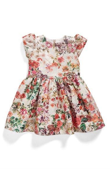 61a2404714ab Halabaloo+Floral+Print+Party+Dress+(Baby+Girls)+available+at+  ...