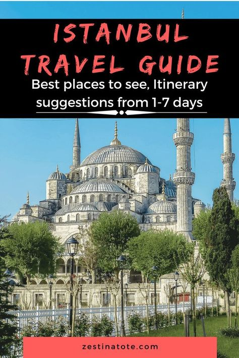 Istanbul is a fascinating city. A city where Europe and Asia meet beautifully. Read to see the best places to visit, things to do in Istanbul and Itinerary suggestions on 1-7 days in Istanbul. #istanbul #istanbulitinerary #bestplacestovisitinistanbul #thingstodoinistanbul #turkey #sultanahmet