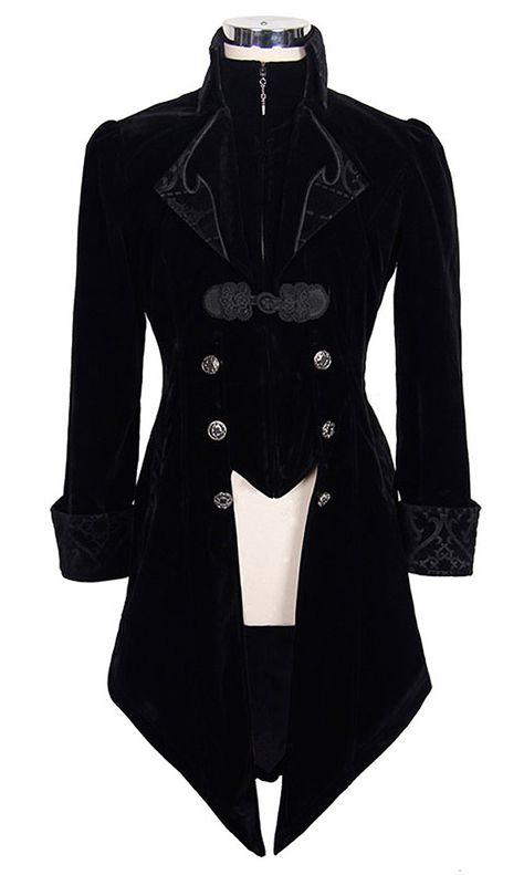 Devil Homme velours rouge Halloween goth steampunk aristocrate Regency Coat Handmade