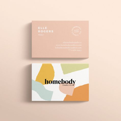 Homebody Candle Co Mint Lane Business Card Design Business Card Inspiration Luxury Logo Design