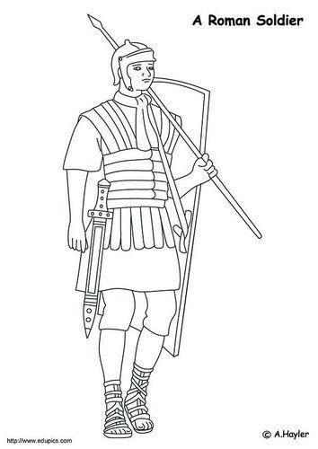 Dibujo Para Colorear Soldado Romano Soldados Romanos Romanos Dibujos Para Colorear