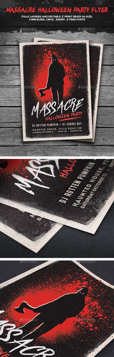 Halloween Flyer Template v01 @creativework247 Flyer Templates - zombie flyer template