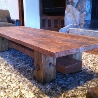 Live Edge Furniture   Reclaimed Douglas Fir Coffee Table With Forged Steel  Accents. | Design Ideas | Pinterest | Live Edge Furniture, Forged Steel And  ...