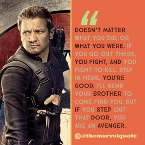 Doesn't matter what you did | Marvel Quotes