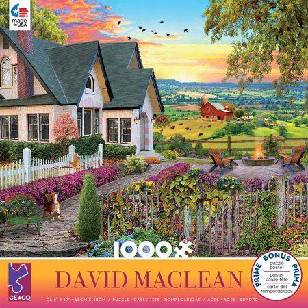 Ceaco David Maclean Hilltop View 1000 Piece Jigsaw Puzzle Walmart Com Cottage Art Hilltop Landscape Scenery