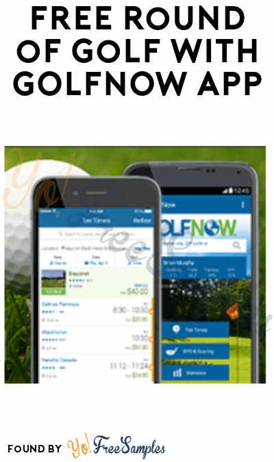 Free Round Of Golf With Golfnow App Code Required Yo Free Samples Coding App Amazon Deals