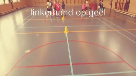 Twister In De Gymles Gymnastiek Spel Lichaamsbeweging