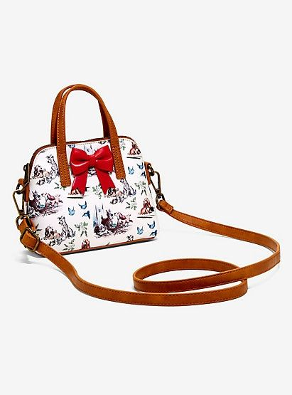 Loungefly Disney Lady And The Tramp Micro Dome Crossbody Bagloungefly Disney Lady And The Tramp Micro Dome Cr Crossbody Bag Lady And The Tramp Faux Leather Bag