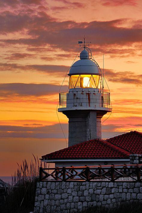 ..._Lighthouse at Faro de Suances, Cantabria, Spain