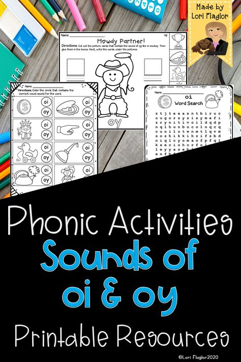 Word Work Activities for oi and oy