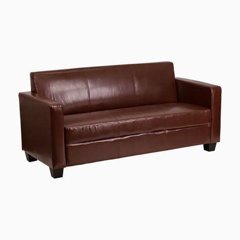 Flash Furniture Grand Series Brown Leather Sofa