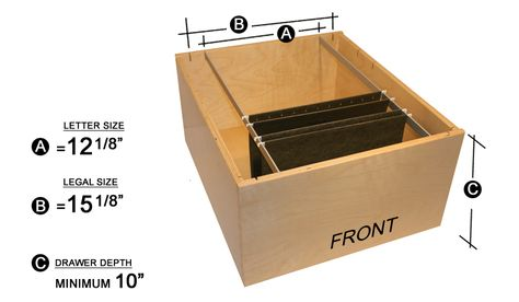 legal size file folder dimensions - Google Search   Cabinetry ...